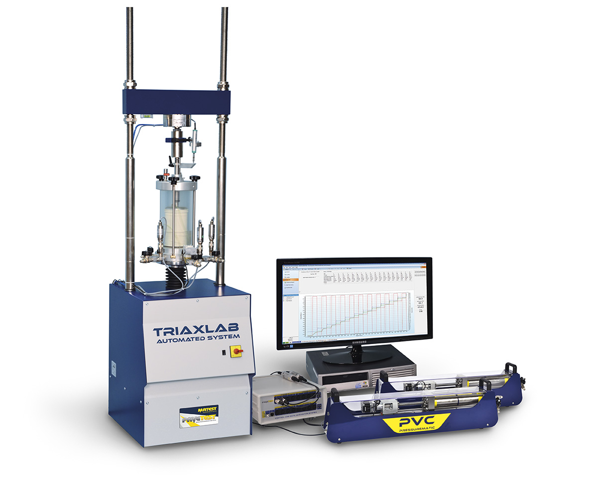 TRIAXLAB - Automatic triaxial system